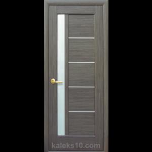 Интериорна врата Грета сива с мат стъкло