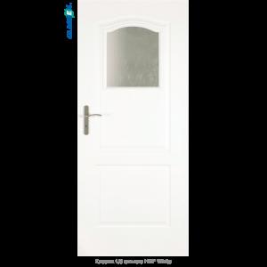 Интериорна врата Classic 1/3 стъкло HDF White