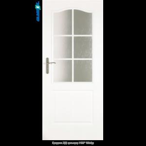 Интериорна врата Classic 2/3 стъкло HDF White