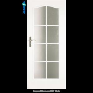 Интериорна врата Classic 3/3 стъкло HDF White
