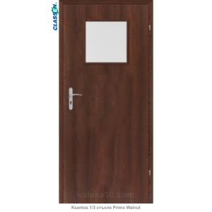 Интериорна врата Ksantos 1/3 стъкло Primo Walnut