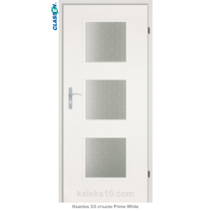 Интериорна врата Ksantos 3/3 стъкло Primo White