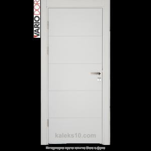 Интериорна врата Variodor плътна бяла с фриз